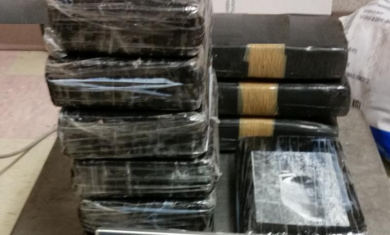 Packages containing 24 pounds of cocaine seized by CBP officers at Brownsville Port of Entry