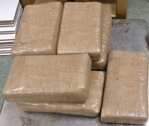 Packages containing 17 pounds of cocaine sezied by CBP officers at Brownsville Port of Entry