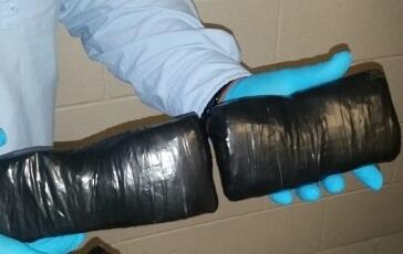 Packages containing 2.65 pounds of cocaine at Brownsville Port of Entry