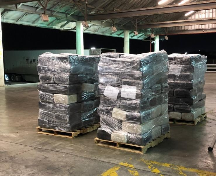 Packages that contain 3,919 pounds of marijuana seized by CBP officers at Brownsville Port of Entry