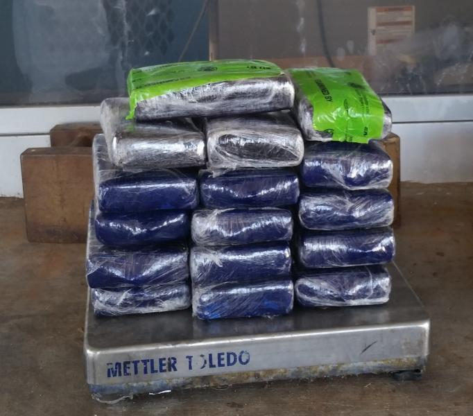Packages containing 39 pounds of cocaine seized by CBP officers at Hidalgo/Pharr/Anzalduas Port of Entry
