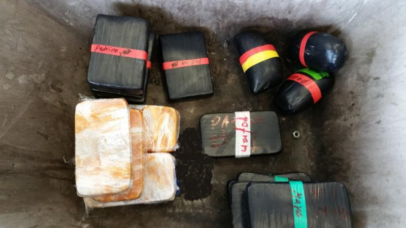 Packages from a combination load of heroin, cocaine and methamphetamine valued at $1 million seized by CBP officers at Hidalgo/Pharr/Anzalduas Port of Entry