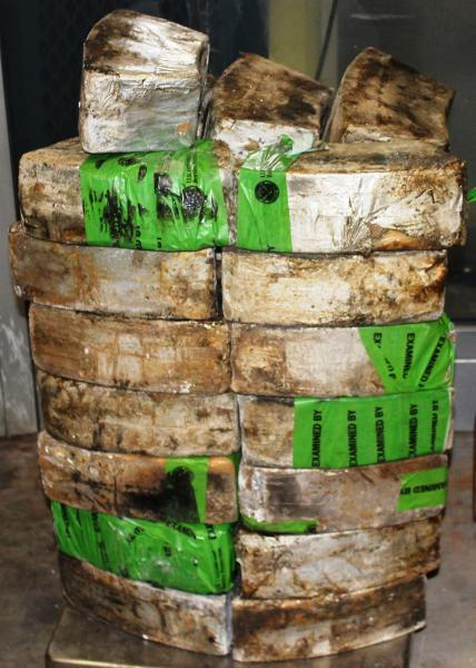 Packages containing nearly 200 pounds of methamphetamine seized by CBP officers at Pharr International Bridge import lot