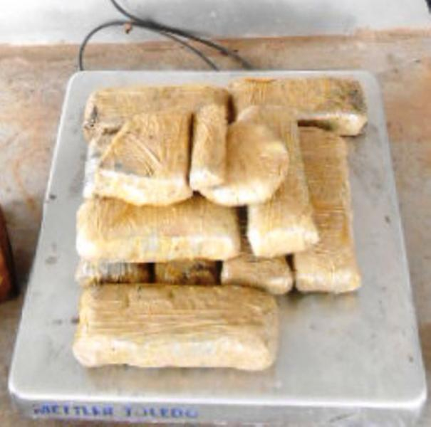 Nearly 14 pounds of methamphetamine seized by CBP officers in Pharr.