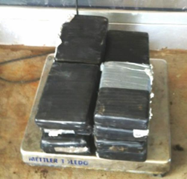 Bundles containing 41 pounds of cocaine seized by CBP officers at Pharr-Reynosa International Bridge