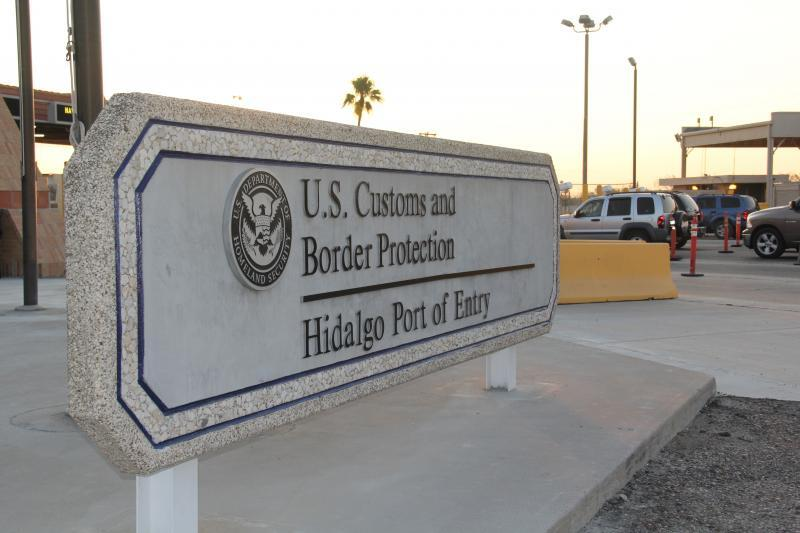 Signage for Hidalgo Port of Entry