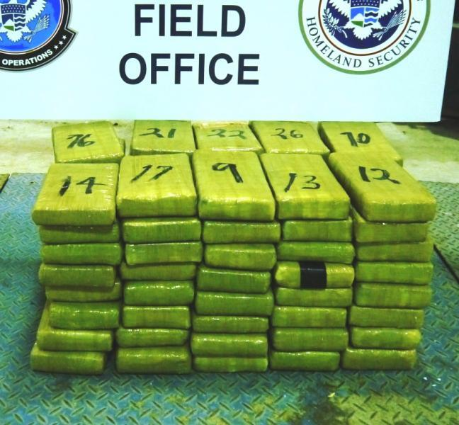 Bundles containing nearly 203 pounds of cocaine seized by CBP officers at Rio Grande City Port of Entry