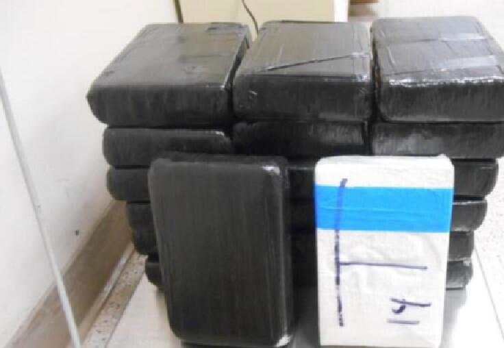 Photo of packages containing nearly 48 pounds of cocaine seized by CBP officers at Laredo Port of Entry.
