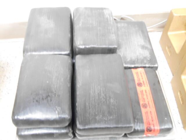 Packages containing 26 pounds of cocaine seized by CBP officers at World Trade Bridge