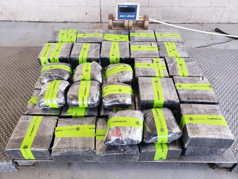 Packages containing 326 pounds of methamphetamine seized by CBP officers at Pharr-Reynosa International Bridge