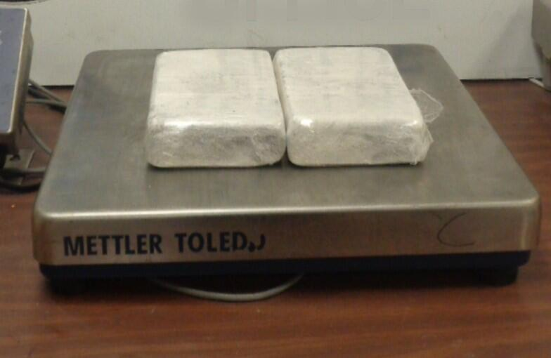 Packages containing 4.67 pounds of cocaine seized by CBP officers at Hidalgo International Bridge