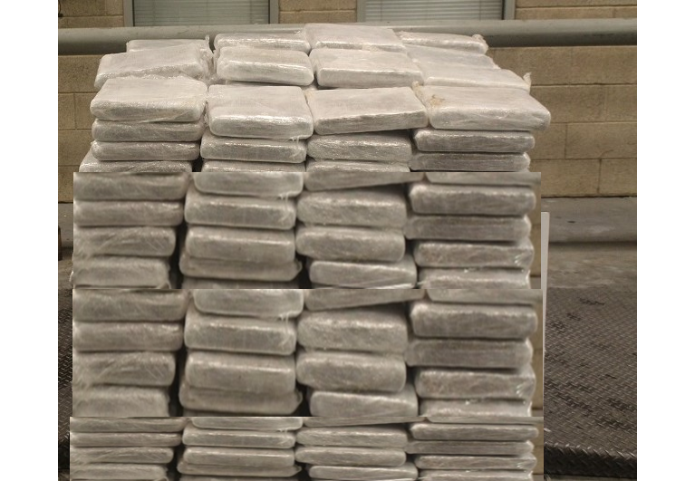 Packages containing 1,080 pounds of marijuana seized by CBP officers at Pharr International Bridge