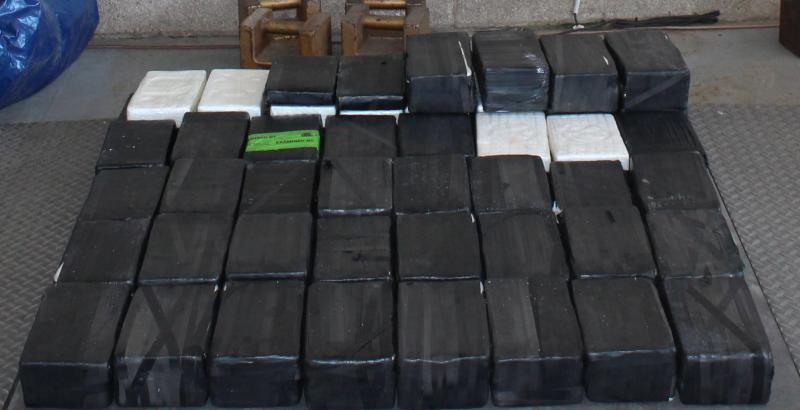Packages containing more than 211 pounds of cocaine seized by CBP officers at Pharr International Bridge