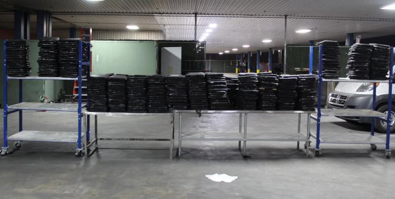 Packages containing nearly 1,571 pounds of marijuana seized by CBP officers at World Trade Bridge