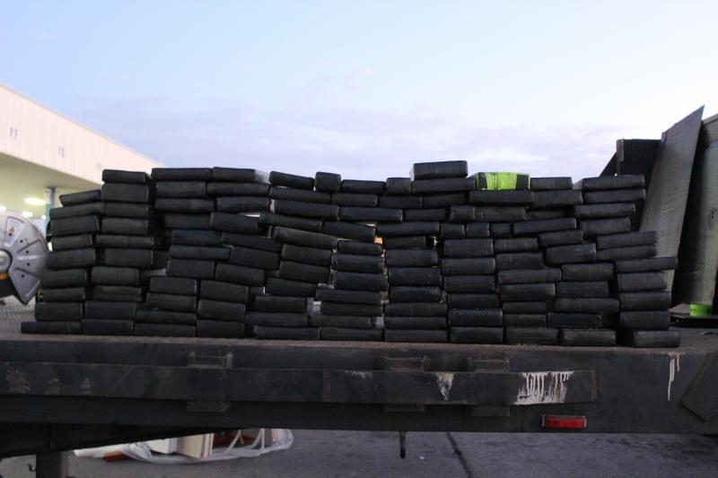 Packages containing more than 256 pounds of cocaine seized by CBP officers at World Trade Bridge