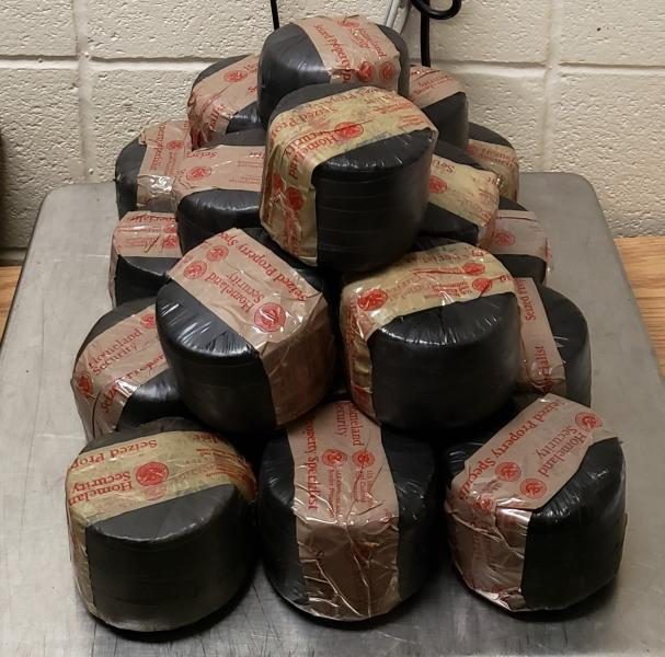 Packages containing nearly 25 pounds of methamphetamine seized by CBP officers at Roma Port of Entry
