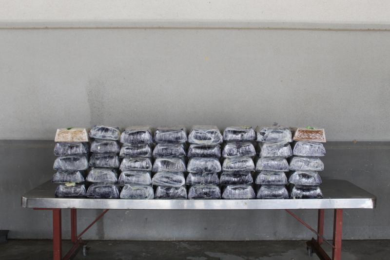 Packages containing nearly 273 pounds of methamphetamine seized by CBP officers at Laredo Port of Entry.