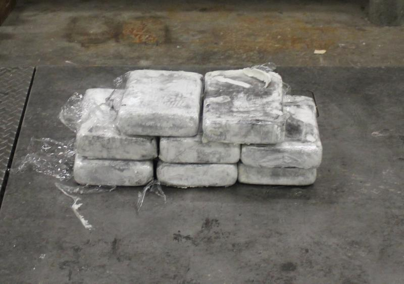 Packages containing nearly 32 pounds of methamphetamine seized by CBP officers at Pharr International Bridge