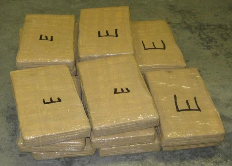 Bundles containing nearly 41 pounds of cocaine seized by CBP officers at Pharr-Reynosa International Bridge
