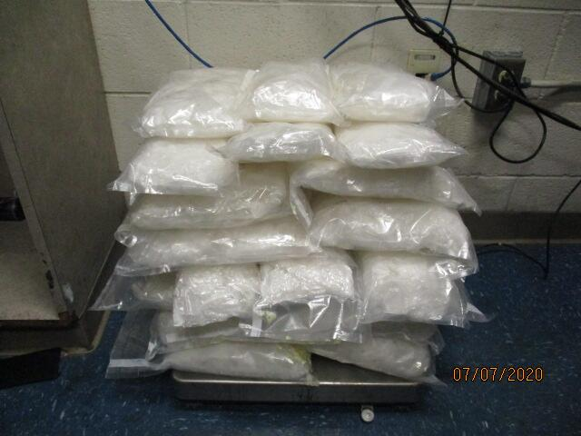 Seized methamphetamine.