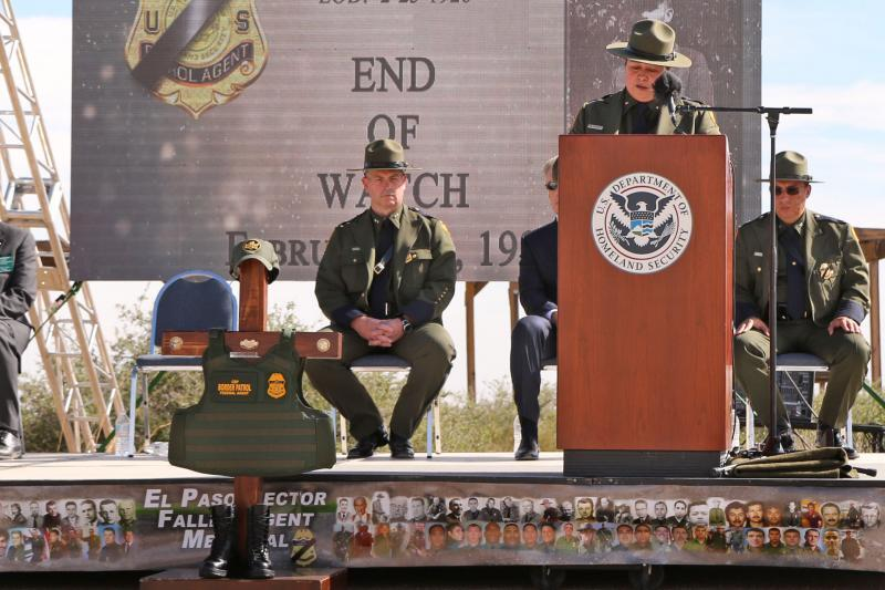 ​U.S. Border Patrol Deputy Chief/Operations, Gloria I. Chavez delivers keynote address.