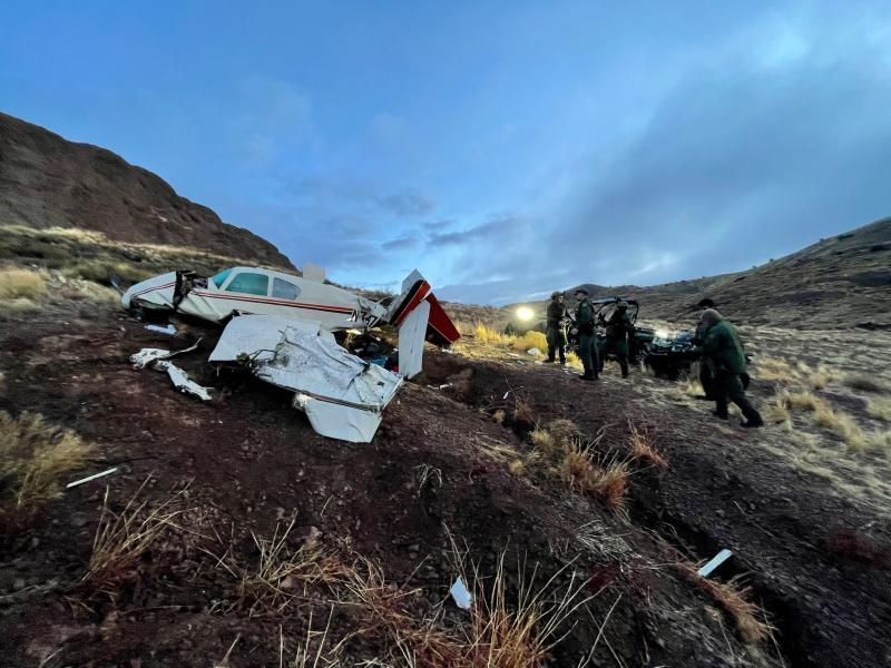 Downed plane in southern NM.