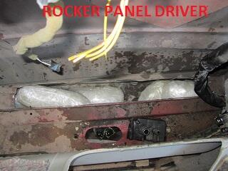 Methamphetamine-filled bundles in rocker panels