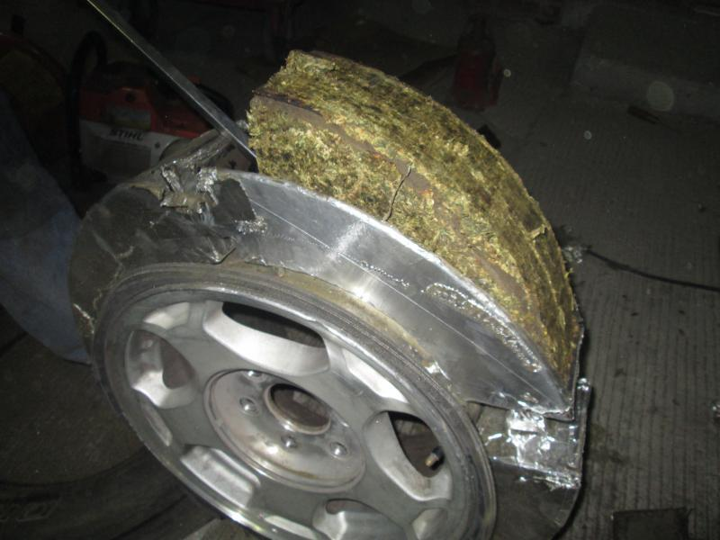Drugs hidden inside tire