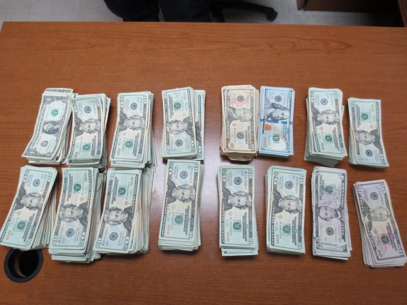 Currency seized by CBP at Presidio port.