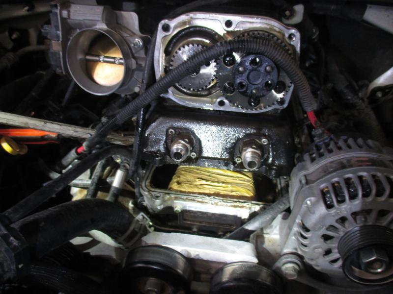 Cocaine filled bundles inside engine compartment