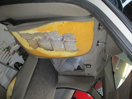 ​Drugs in car seat cushions.