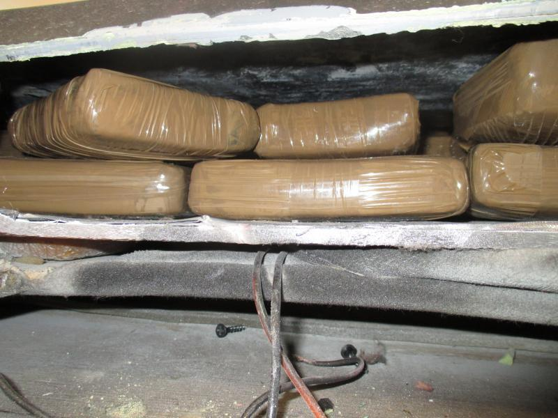 Drug load inside ceiling compartment.
