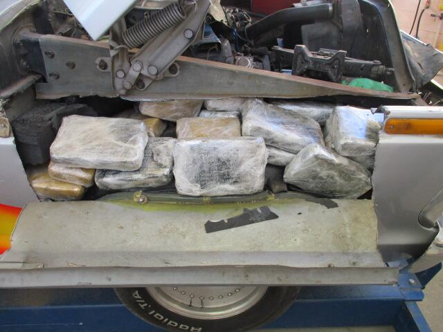 Drugs in quarter panel of truck.