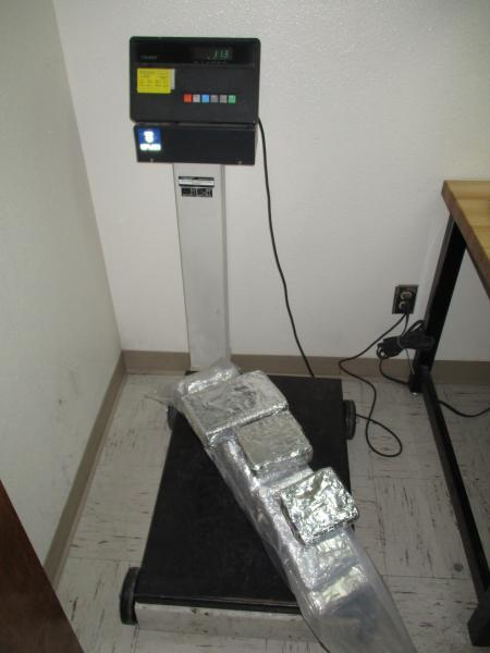 CBP weighs seized cocaine.