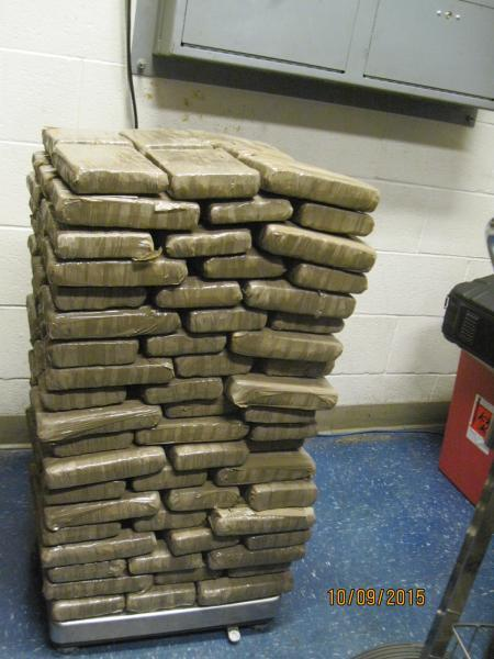 CBP officers weigh drug load