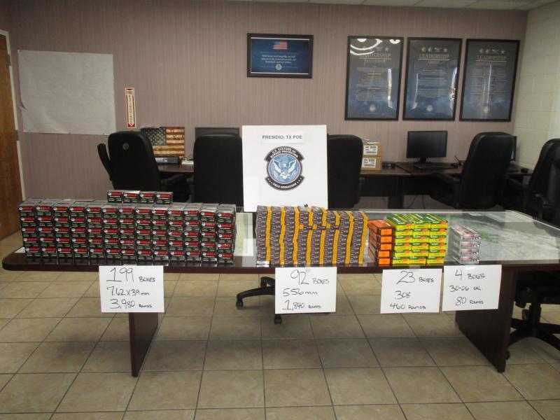 CBP Officers seize ammunition.