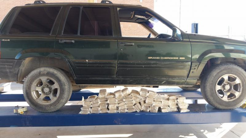 Bundles of drugs removed from SUV