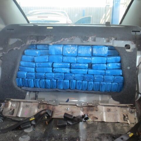 drug load inside the seat of a car