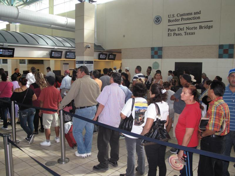 CBP Officer process travelers at the El Paso port of entry.