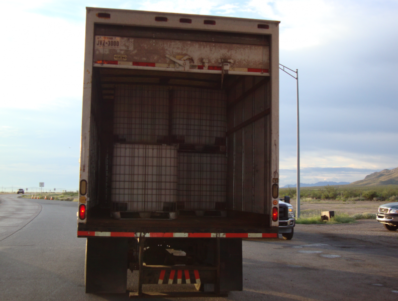 Truck used in smuggling attempt.