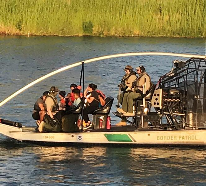Group of 12 aboard USBP boat