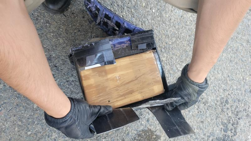 Illicit narcotics in car battery