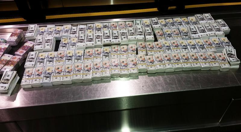 CBP officers seized counterfeit $4.65M printed on joss paper.