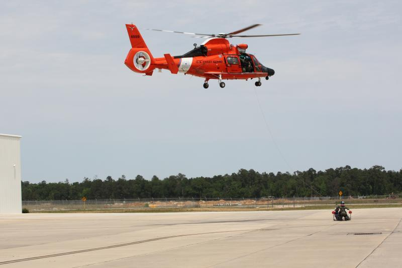 USCG demonstrates rescue and hoist