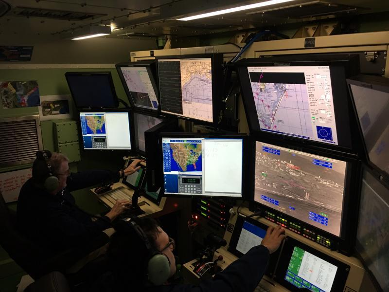 Inside a UAS ground control station