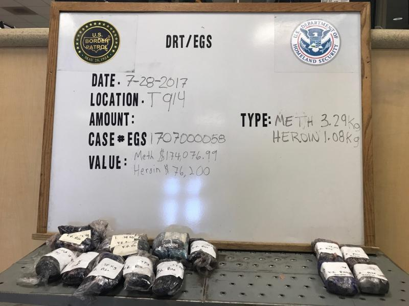 Methamphetamine and heorin were seized at Texas checkpoint