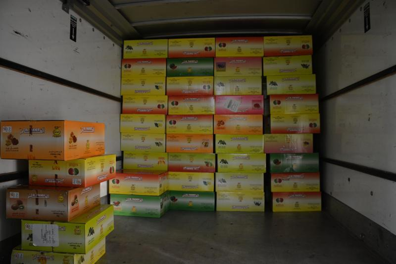 115 seized cases of water pipe tobacco