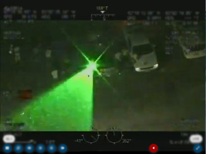 CBP AS350 targeted by laser in Detroit June 3