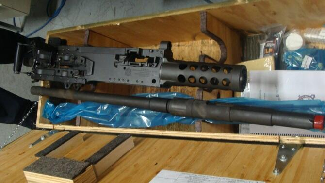 .50 Cal Machine Gun Seized at Fort Street Cargo Facility