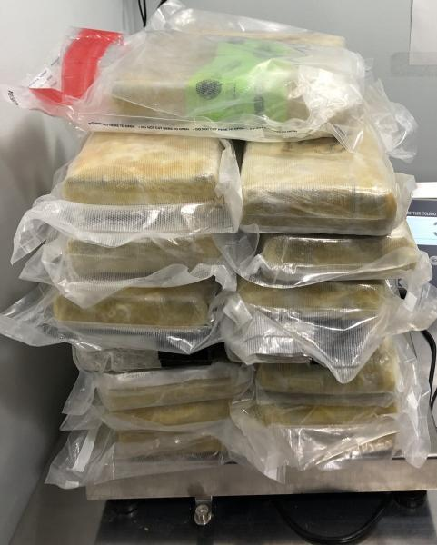 Cocaine and fentany seized at Blue Water Bridge